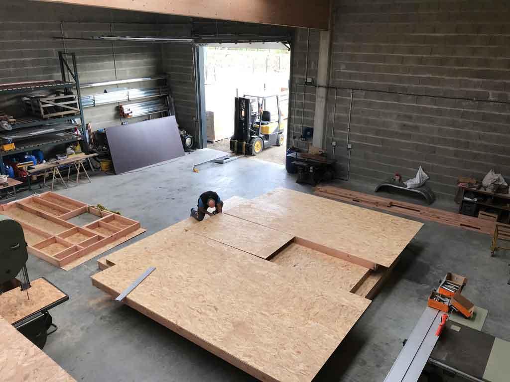 Construction mur maison ossature bois