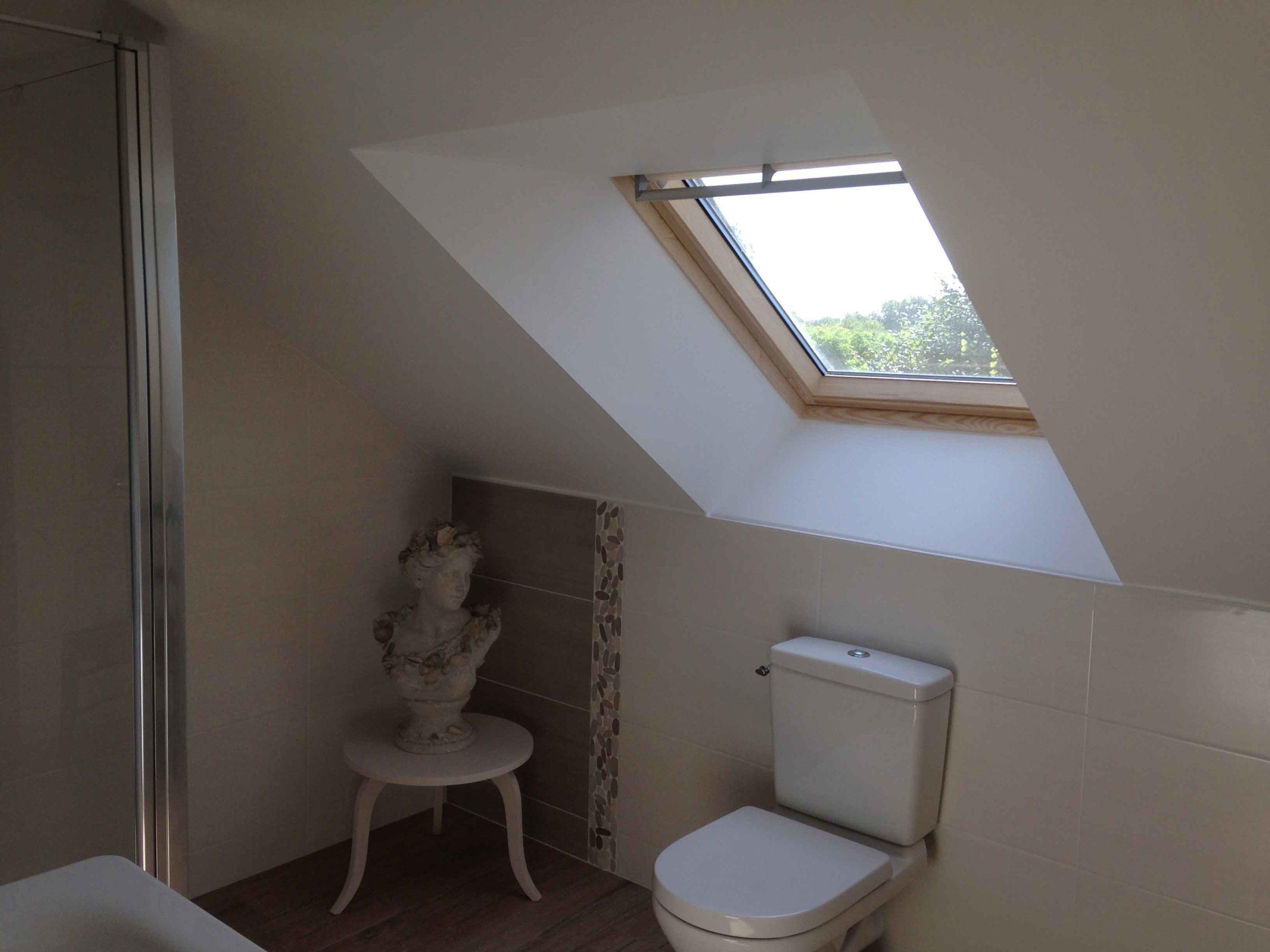 Fenêtre de toit dans salle de bain